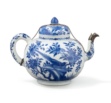 View 1. Thumbnail of Lot 283. A blue and white teapot and jar, China, Qing Dynasty, 18th-19th century.