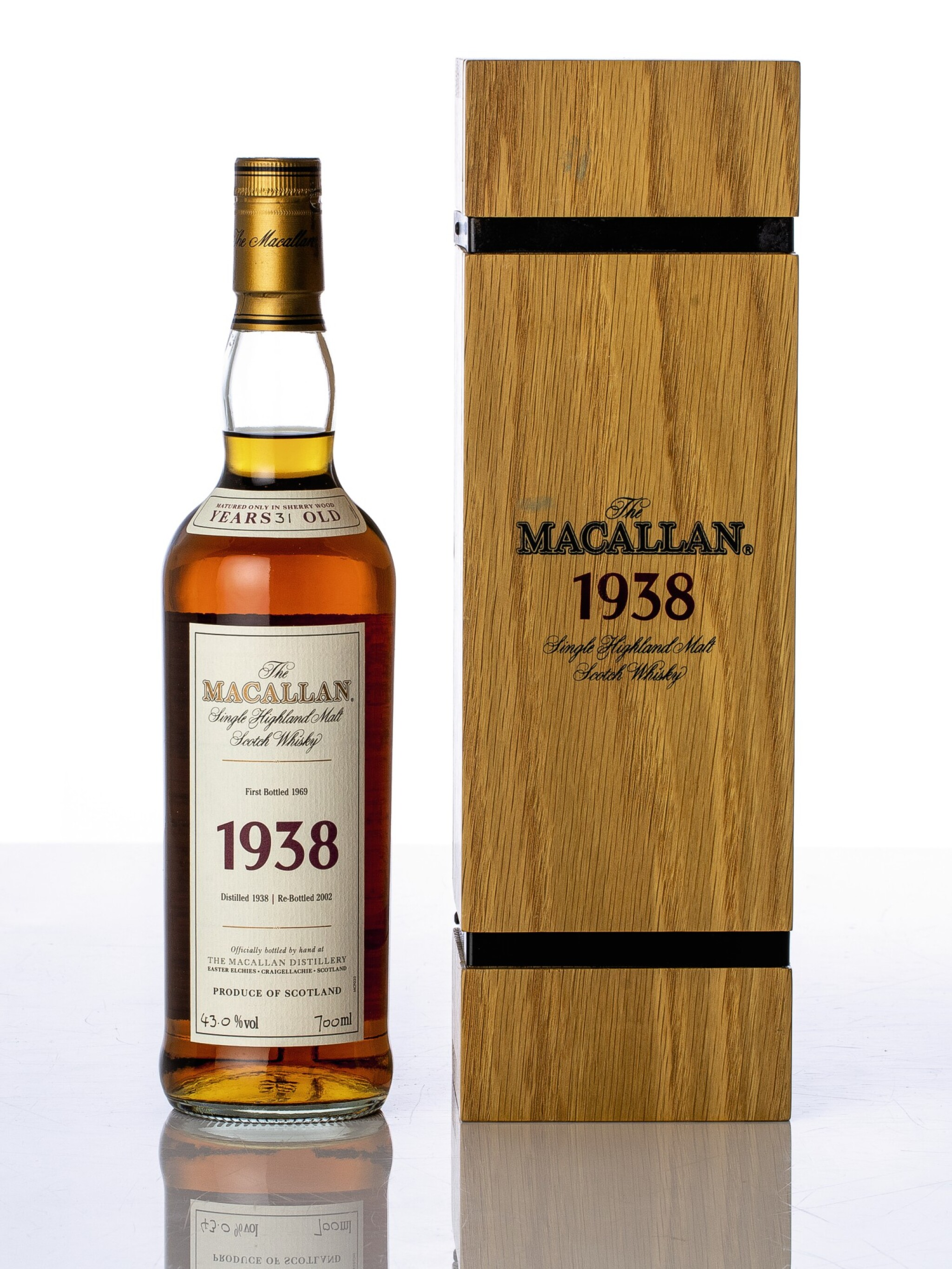 View full screen - View 1 of Lot 5524. The Macallan Fine & Rare 31 Year Old 43.0 abv 1938 (1 BT70).