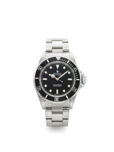 ROLEX | REF 14060 SUBMARINER, A STAINLESS STEEL AUTOMATIC WRISTWATCH WITH BRACELET CIRCA 1995