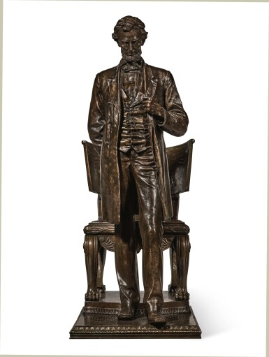 View 2. Thumbnail of Lot 40. AUGUSTUS SAINT-GAUDENS | ABRAHAM LINCOLN: THE MAN (STANDING LINCOLN).