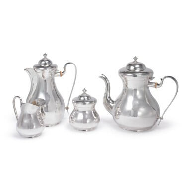 A FOUR-PIECE ITALIAN SILVER TEA AND COFFEE SET, BUCCELLATI, 20TH CENTURY