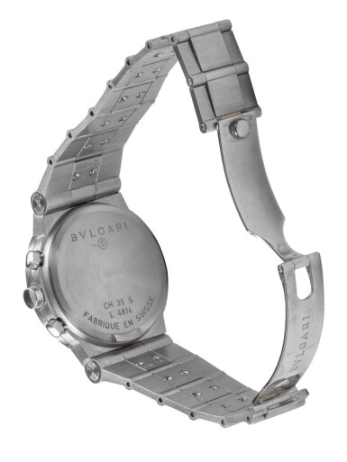BULGARI | DIAGONO, REF CH 35 S STAINLESS STEEL CHRONOGRAPH WRISTWATCH WITH DATE AND BRACELET CIRCA 2010
