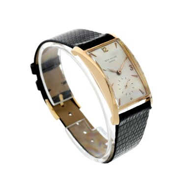 View 3. Thumbnail of Lot 147. REFERENCE 1593 A PINK GOLD WRISTWATCH, MADE IN 1953.