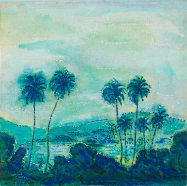 View 1. Thumbnail of Lot 4572. Klapperbomen in Landschap (Coconut Trees in a Landscape)   風景中椰子樹.