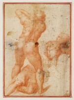 AFTER MICHELANGELO |  Figure studies from The Conversion of St. Paul, after Michelangelo
