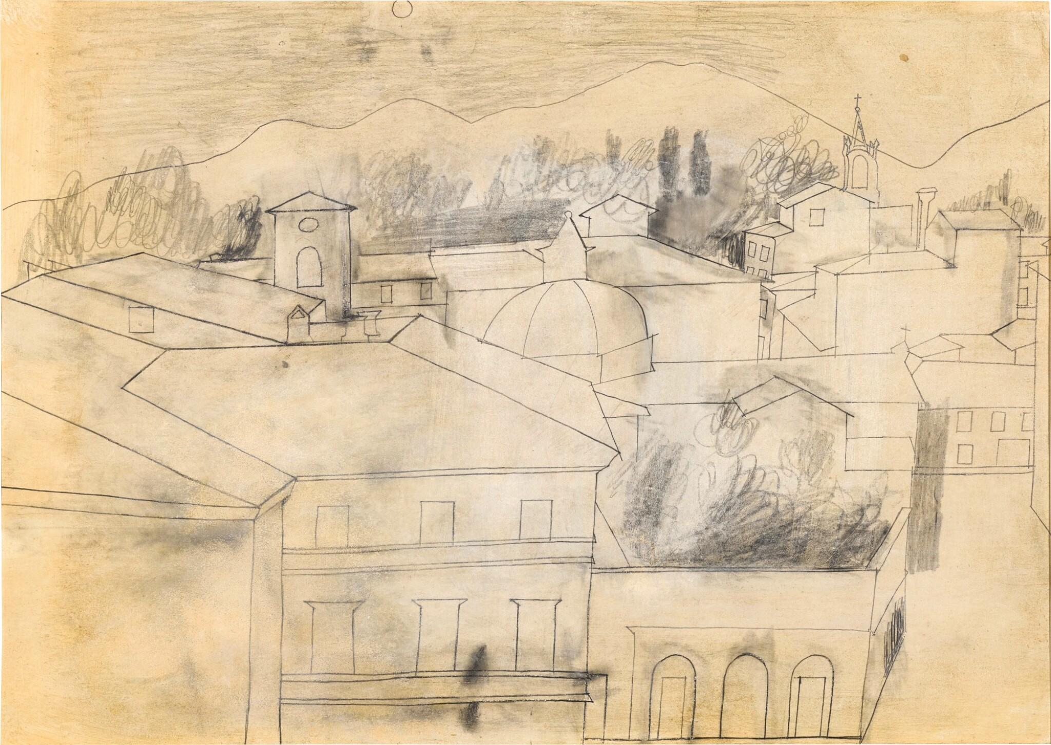 View full screen - View 1 of Lot 601. BEN NICHOLSON | FULL MOON, LUCCA, SEPT 1956.