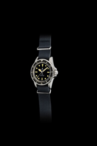 "ROLEX | MILITARY SUBMARINER, REFERENCE 5517, A STAINLESS STEEL MILITARY WRISTWATCH WITH REVOLVING BEZEL, FIXED BAR LUGS AND MILITARY ENGRAVINGS, CIRCA 1977 | 勞力士 | ""Military Submariner 型號5517 精鋼軍用腕錶,備迴轉錶圈及軍用印記,錶殼編號5212927,約1977年製"""