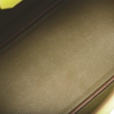 "Hermès Bi-color Kiwi and Lichen ""Candy"" Birkin 35cm of Epsom Leather with Palladium Hardware"