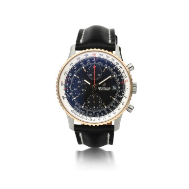 BREITLING  |  REFERENCE U13324 NAVITIMER 1   A STAINLESS STEEL AND PINK GOLD CHRONOGRAPH AUTOMATIC WRISTWATCH WITH DATE, CIRCA 2018