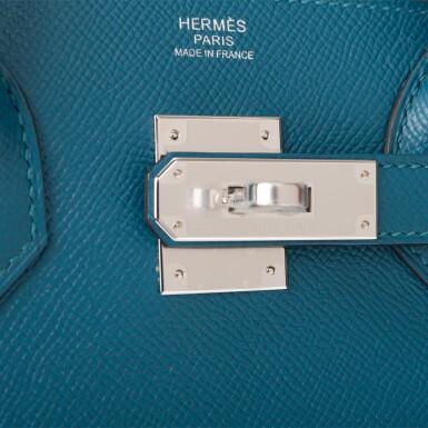 HERMÈS |  VERT BOSPHORE BIRKIN 30CM OF EPSOM LEATHER WITH PALLADIUM HARDWARE