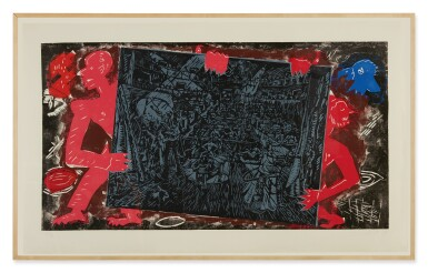 View 2. Thumbnail of Lot 32. JÖRG IMMENDORFF   RAUB DER SABINERIN [ROBBERY OF THE SABINES] .