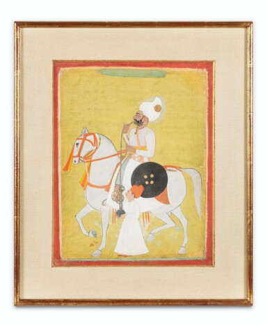 View 2. Thumbnail of Lot 34. INDIA, 19TH CENTURY | FOUR EQUESTRIAN PORTRAITS OF DIGNITARIES .