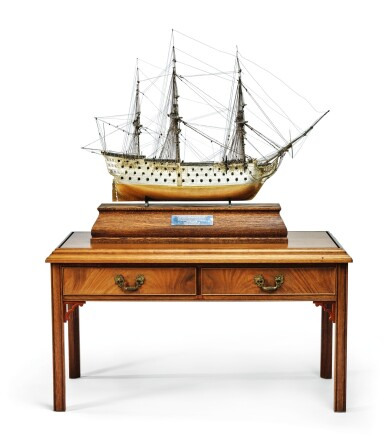 View 2. Thumbnail of Lot 151. A FINE ELIZABETH II PARCEL-GILT SILVER SCALE MODEL OF THE H.M.S VICTORY, DAVID SHAW SILVERWARE LTD. FOR ASPREY & CO., LONDON, 1988.