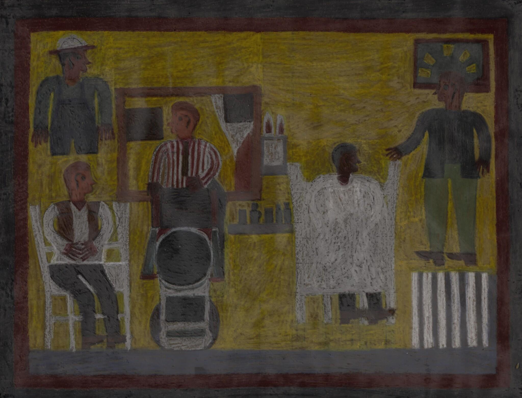 View full screen - View 1 of Lot 1508. EDDIE ARNING | BARBERSHOP.