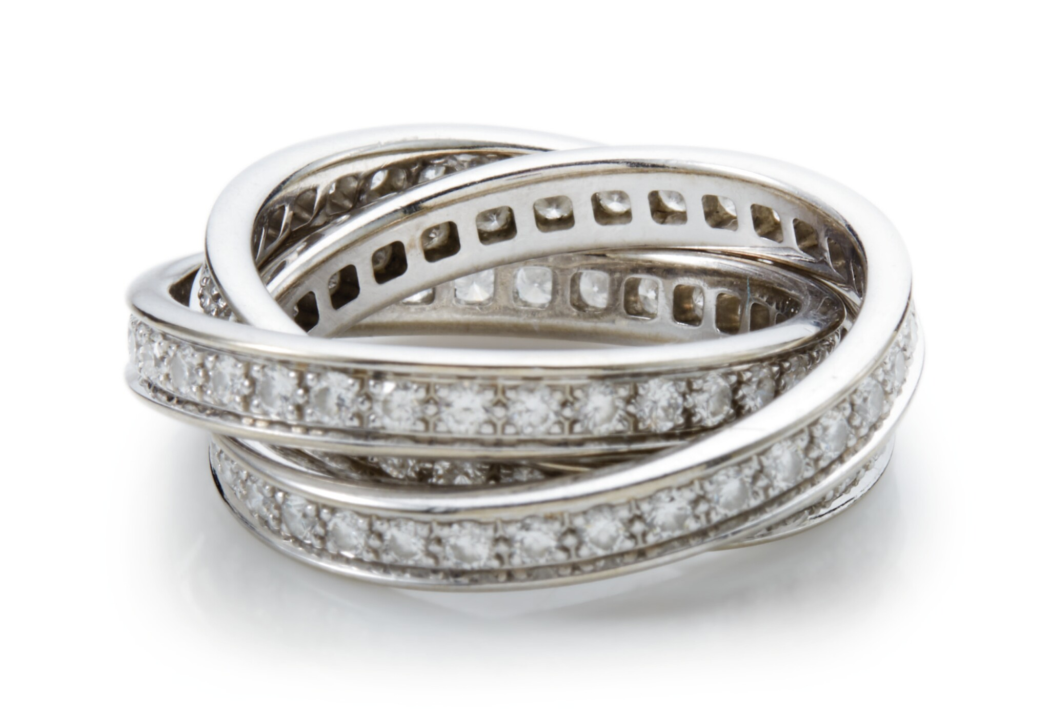 View full screen - View 1 of Lot 1006. DIAMOND RING, 'TRINITY' CARTIER.