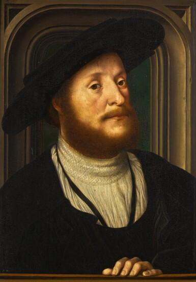 View 1. Thumbnail of Lot 110. FOLLOWER OF JAN GOSSAERT | Portrait of a gentleman.