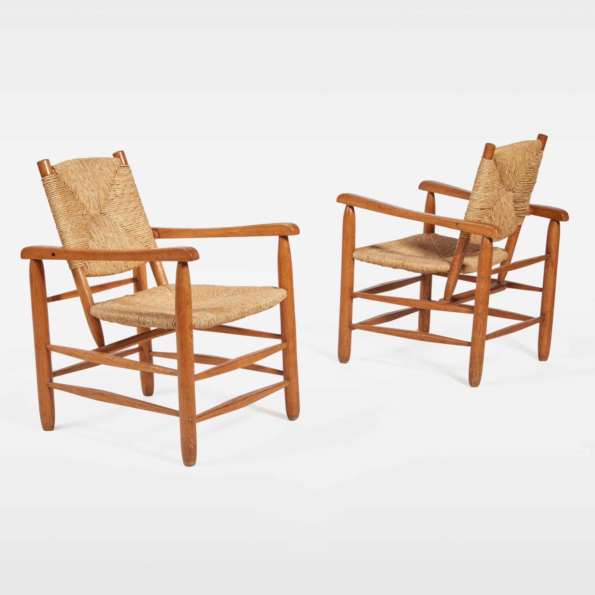 View full screen - View 1 of Lot 83. Pair of Armchairs, Model No. 21.
