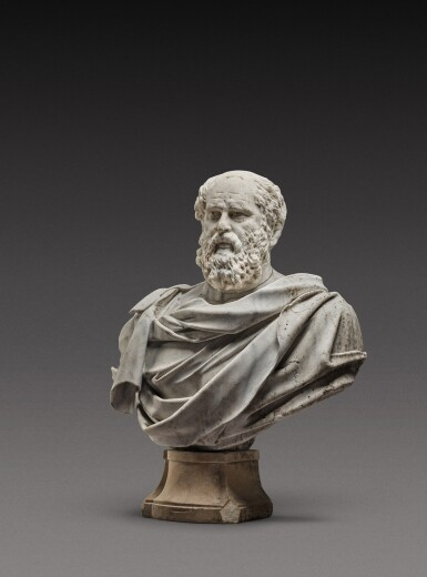 View 3. Thumbnail of Lot 121. Italian, 17th century | Monumental Bust of a Philosopher.