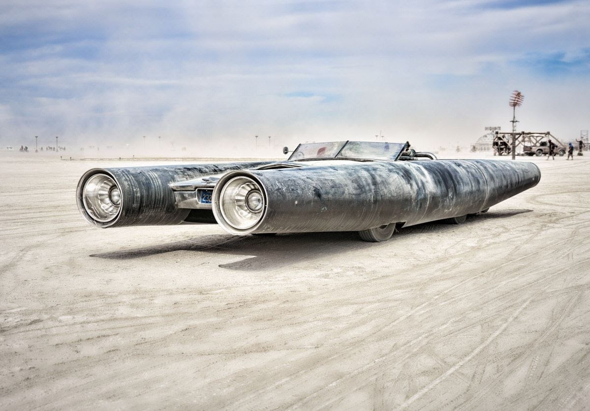 View full screen - View 1 of Lot 1. Rocket Car by David Best.