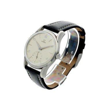 View 2. Thumbnail of Lot 62. REFERENCE 2487-5 A STAINLESS STEEL WRISTWATCH, CIRCA 1960.