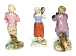 THREE FRENCH FAIENCE FIGURES, PROBABLY NIDERVILLER | CIRCA 1770-80