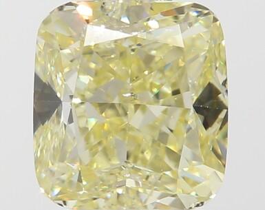 A 1.02 Carat Fancy Yellow Cushion-Cut Diamond, SI1 Clarity