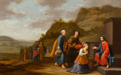 FLORIS VAN SCHOOTEN | Christ and the woman of Samaria at the well