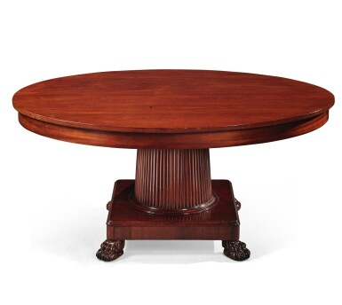 View 2. Thumbnail of Lot 99. A German Neoclassical Mahogany Dining Table, Early 19th Century.