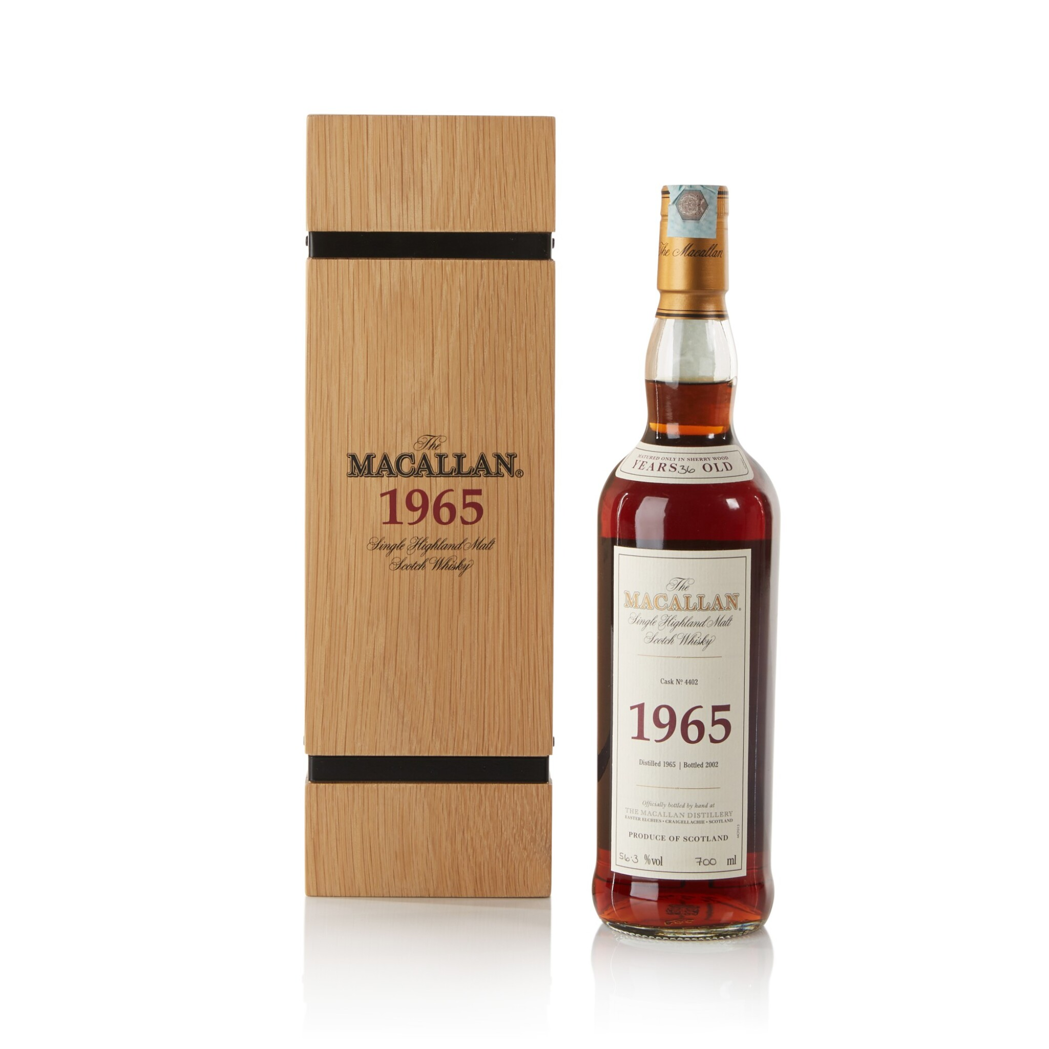 View full screen - View 1 of Lot 27. The Macallan Fine & Rare 36 Year Old 56.3 abv 1965 .