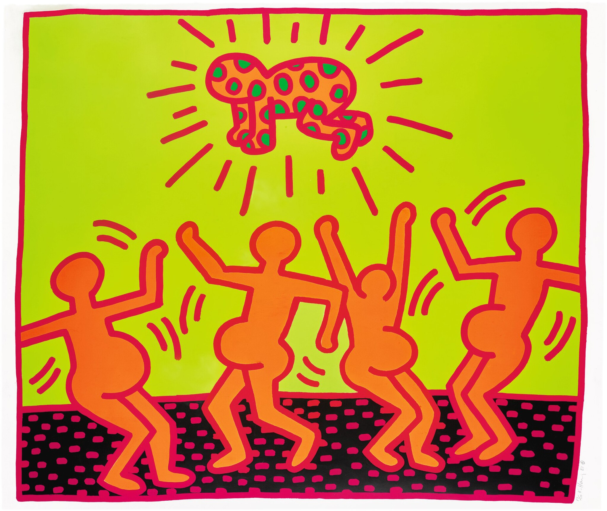 View full screen - View 1 of Lot 135. KEITH HARING | UNTITLED 1 (LITTMANN P. 31) .