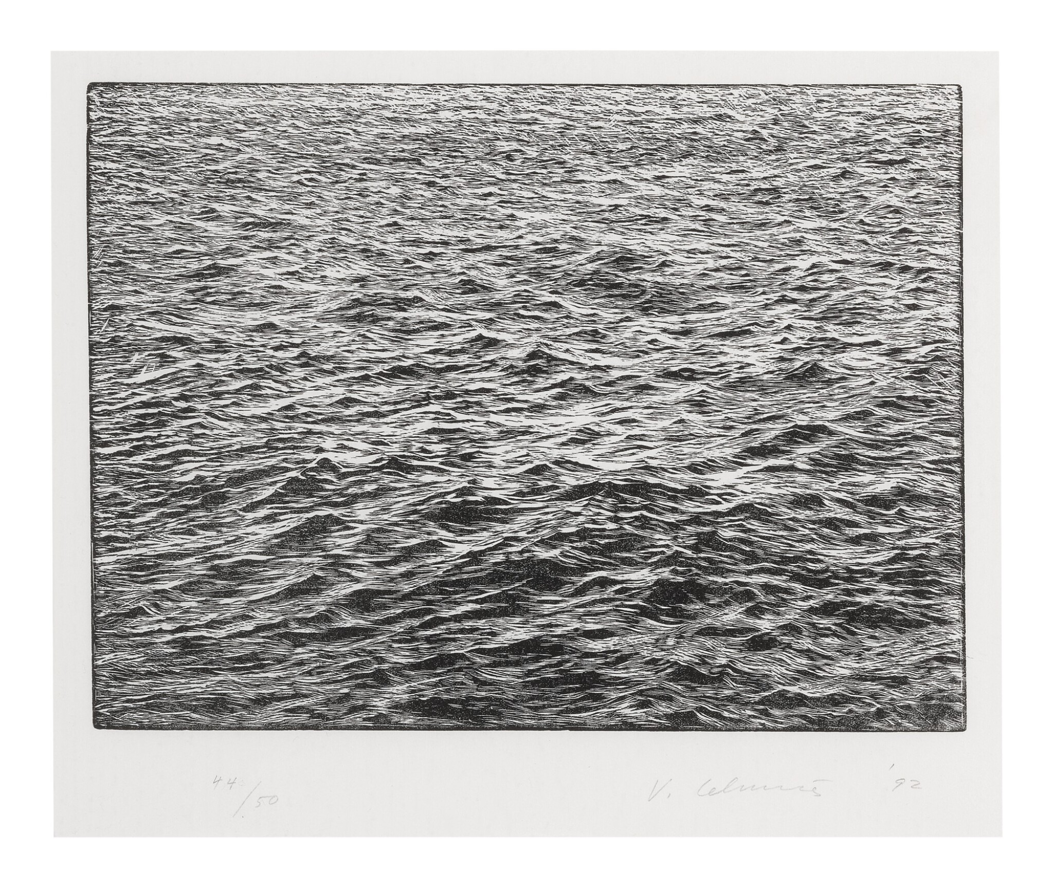 View full screen - View 1 of Lot 11. VIJA CELMINS | OCEAN SURFACE.