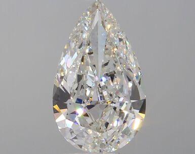A 3.04 Carat Pear-Shaped Diamond, I Color, VS1 Clarity