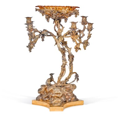 View 1. Thumbnail of Lot 205. A monumental silver candelabra centerpiece, Sazikov, St Petersburg, 1850.