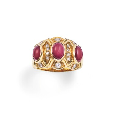 Star ruby and diamond ring [Bague rubis étoilés et diamants]