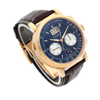 View 3. Thumbnail of Lot 292. Reference 405.031F Datograph Up/Down  A pink gold flyback chronograph wristwatch with date, Circa 2014.