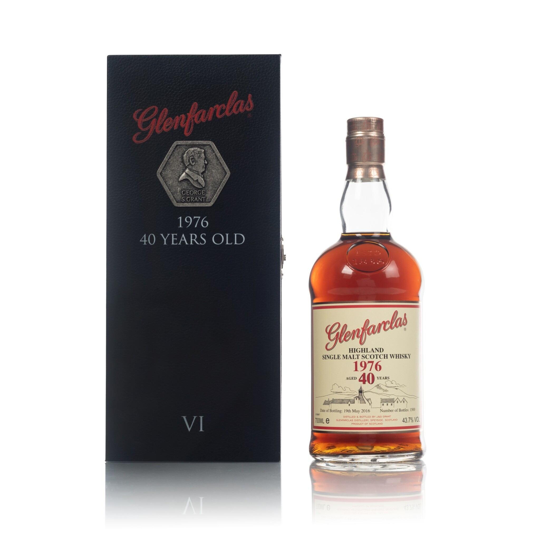 View full screen - View 1 of Lot 69. Glenfarclas 40 Year Old Family Collector Series VI 43.7 abv 1976 (1 BT70).