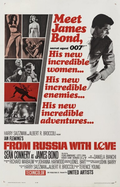 From Russia with Love (1963) poster, US