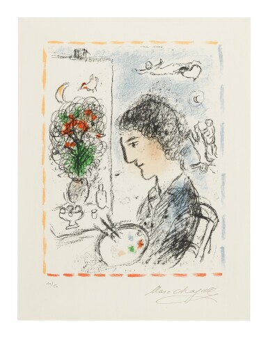 MARC CHAGALL | THE FLOWERING EASEL (M. 1039)