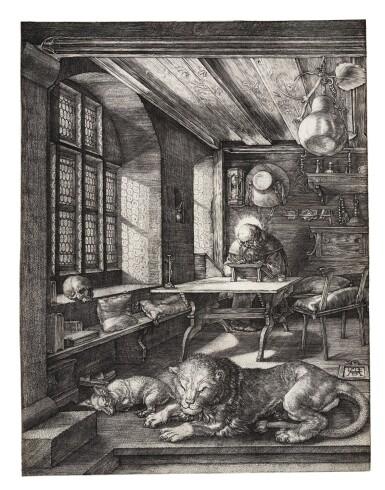 View 1. Thumbnail of Lot 7. ALBRECHT DÜRER   SAINT JEROME IN HIS STUDY (B. 60; M., HOLL. 59).