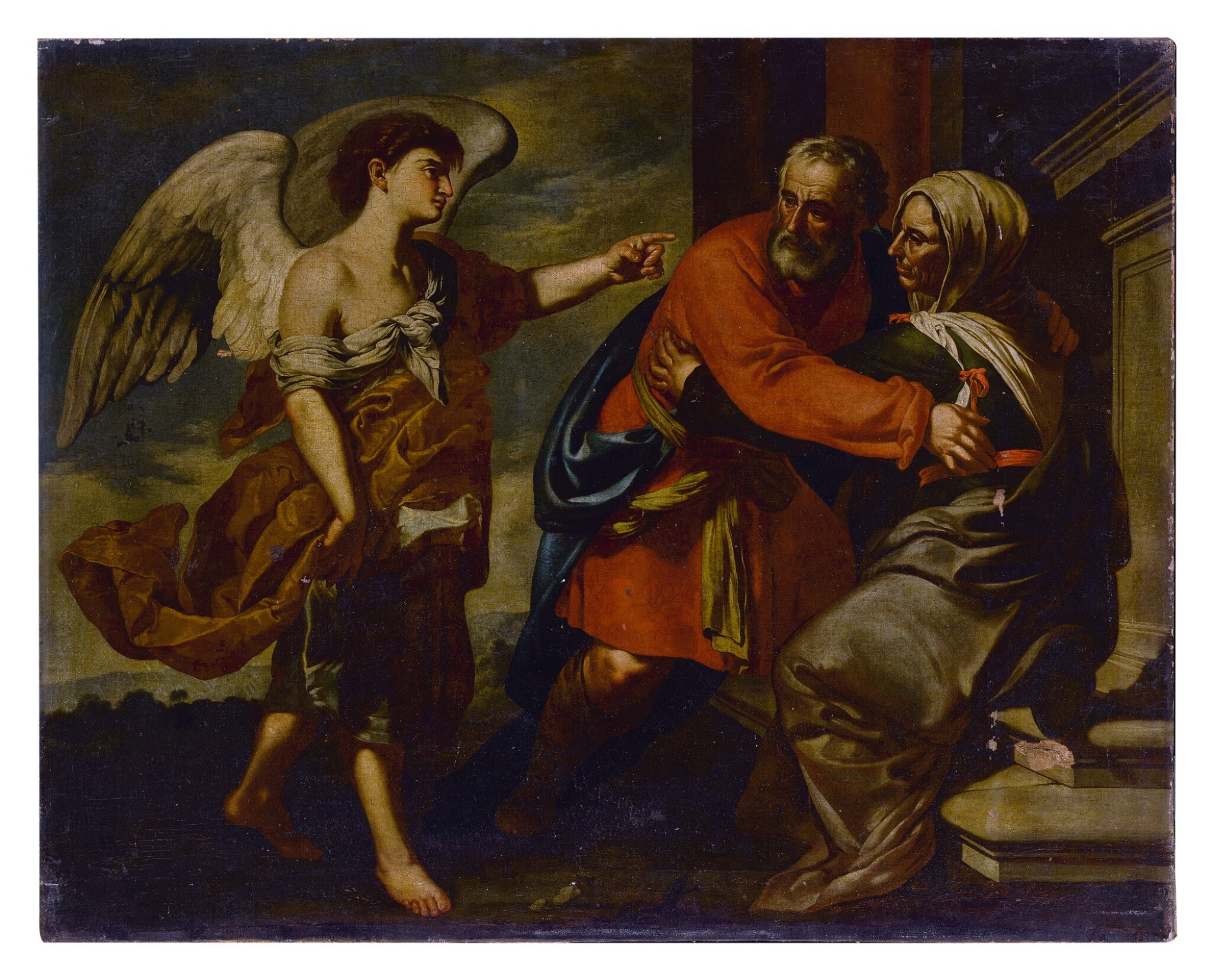 View full screen - View 1 of Lot 582. The Meeting of Zechariah and Elizabeth.