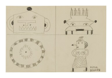 View 1. Thumbnail of Lot 10. VICTOR BRAUNER | FOUR FIGURES.