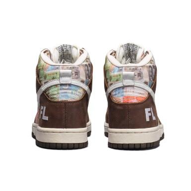 View 9. Thumbnail of Lot 1. Leonard Hilton McGurr 'Futura' | Nike Dunk High Pro SB 'FLOM' | Size 8.