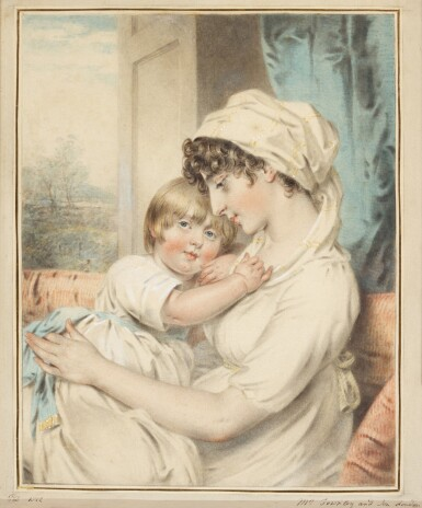 View 1. Thumbnail of Lot 204. Portrait of Mrs Townley and her son.