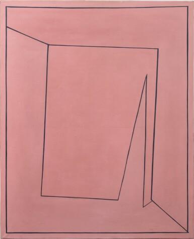 View 1. Thumbnail of Lot 2. Tout rose (peinture rectangulaire représentant un carré perspectiviste qui a la rougeolle), 1955.