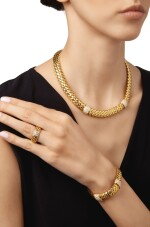 GOLD AND DIAMOND SUITE OF 'VANNERIE' JEWELS, TIFFANY & CO.