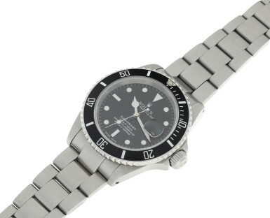 View 6. Thumbnail of Lot 304. ROLEX | REFERENCE 16610 SUBMARINER  A STAINLESS STEEL AUTOMATIC WRISTWATCH WITH DATE AND BRACELET, CIRCA 2002.