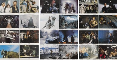 THREE COMPLETE SETS OF LOBBY CARDS FOR STAR WARS (1977), THE EMPIRE STRIKES BACK (1980), AND RETURN OF THE JEDI (1983), US
