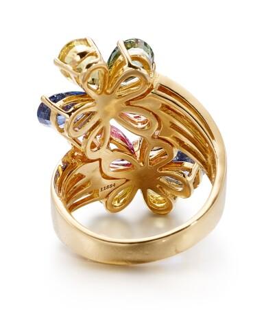 View 3. Thumbnail of Lot 1645.  BULGARI | GEM SET AND DIAMOND RING | 寶格麗 | 寶石 配 鑽石 戒指.