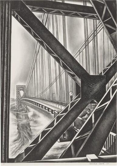 "View 1. Thumbnail of Lot 38. George Washington Bridge with ""B"" (Duffy 156)."