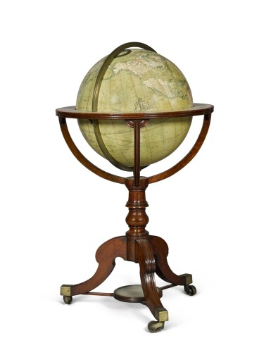 View 2. Thumbnail of Lot 67. A William IV 18-inch terrestrial globe by W. & T. M. Bardin, dated 1836.